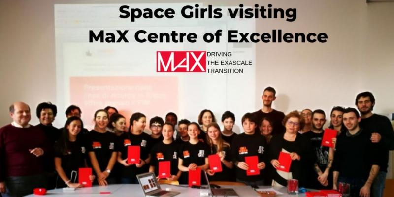 Space Girls visiting MaX Centre of Excellence